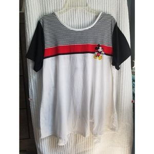 Mickey Mouse Lace-Up Back Flowy Top (NWOT)